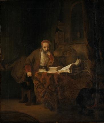 NOR En lærd i sitt studerkammer, ENG A Scholar in his Study